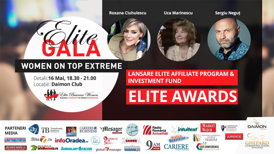 ELITE Business Women, cea mai mare companie de antreprenoriat feminin din România, organizează Gala – Women On Top Extreme