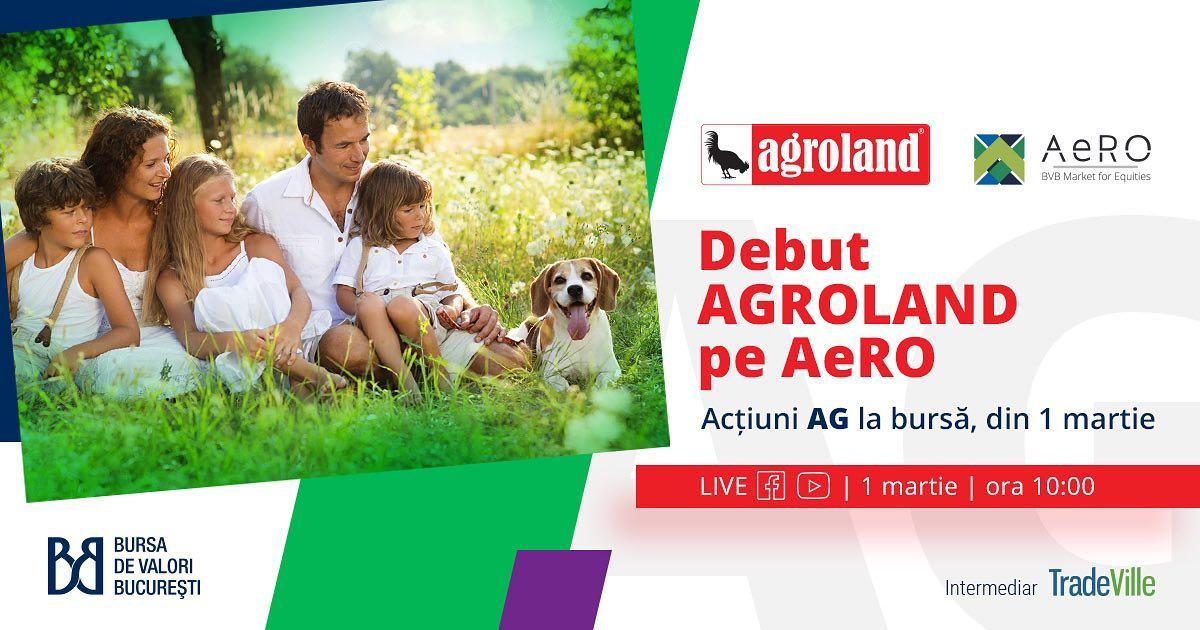 Acţiunile Agroland sunt listate pe Sistemul Multilateral de Tranzacţionare al BVB
