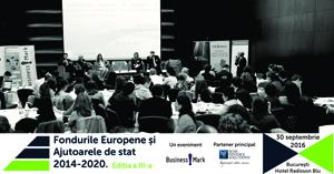 """Conferința """"Fondurile europene și Ajutoarele de Stat 2014-2020"""" are loc pe 30 septembrie, la București"""