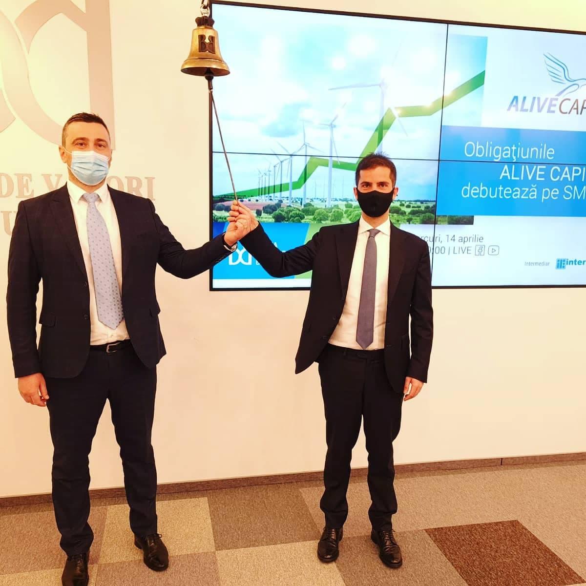 Furnizorul de energie Alive Capital a listat obligațiuni de 10 mil. lei la Bursa de Valori București