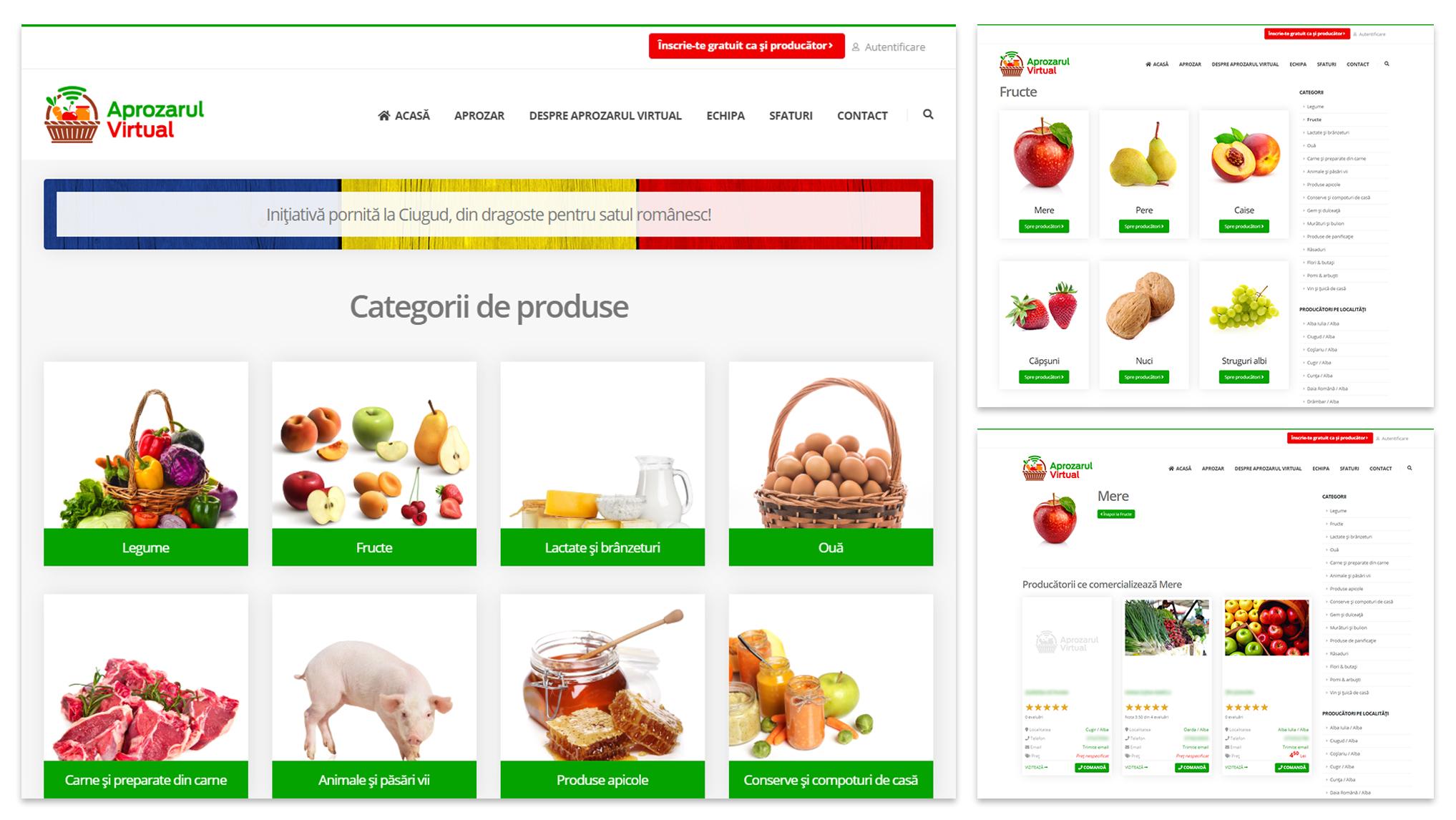 """""""Aprozarul Virtual"""" lansat de Primăria Ciugud este pus gratuit la dispoziţia micilor producători din ţară"""