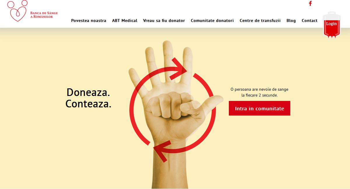 A fost creată prima platformă online a donatorilor de sânge din România