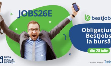 Obligaţiunile BestJobs, în valoare de peste 3,3 milioane de euro, au debutat la bursă