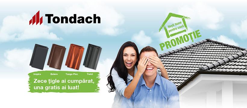 Promoție la Țigla Ceramică Tondach: Zece țigle ai cumpărat, una gratis ai luat!
