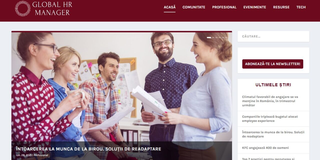 GlobalHRManager.ro – platforma digitală a comunității OSC – HR Manager