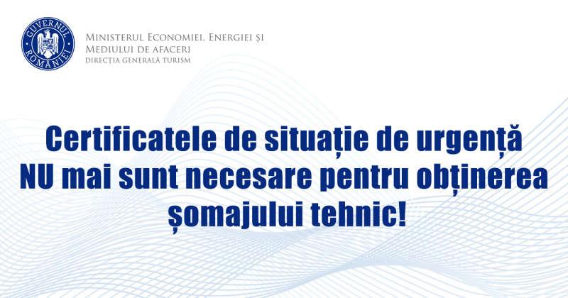 Ministerul Economiei anunță că Certificatele de Situaţie de Urgenţă nu mai sunt necesare pentru obţinerea şomajului tehnic