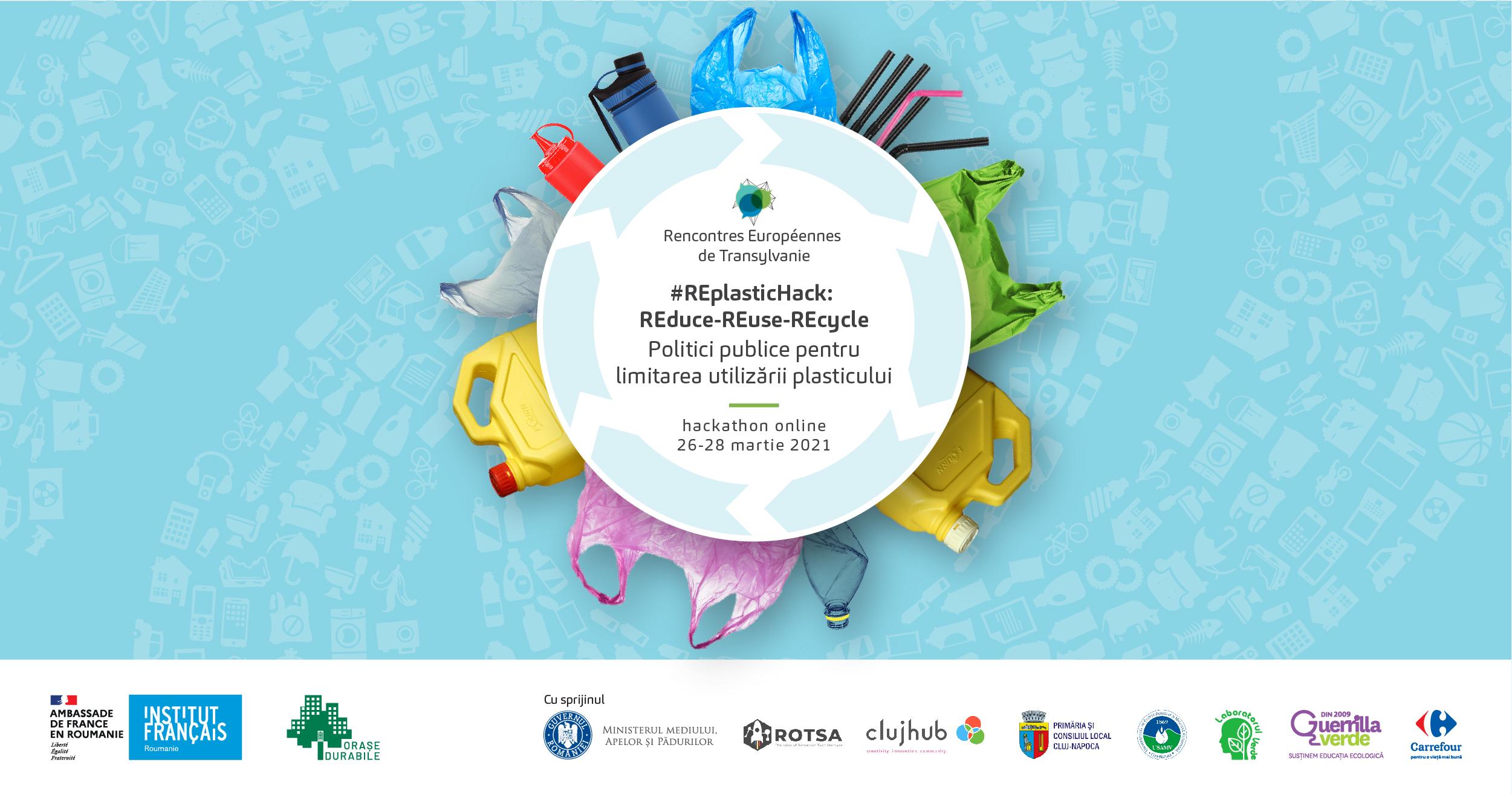 Hackathon online pentru reducerea utilizării plasticului, organizat de Ambasada  Franţei