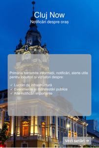 """Primăria Cluj-Napoca lansează aplicaţia """"Cluj Now"""", care oferă locuitorilor notificări oficiale despre oraş"""