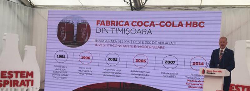 Coca-Cola investeşte 7 milioane de euro în fabrica din Timişoara