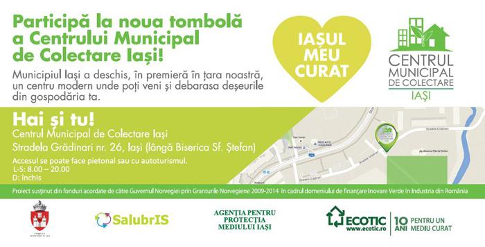 Municipiul Iași continuă să recicleze: Centrul Municipal de Colectare Iași (CMCI) lansează o nouă tombolă