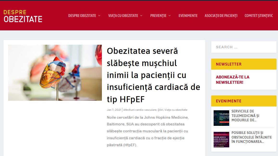 A fost lansată platforma medicală specializată DespreObezitate.ro