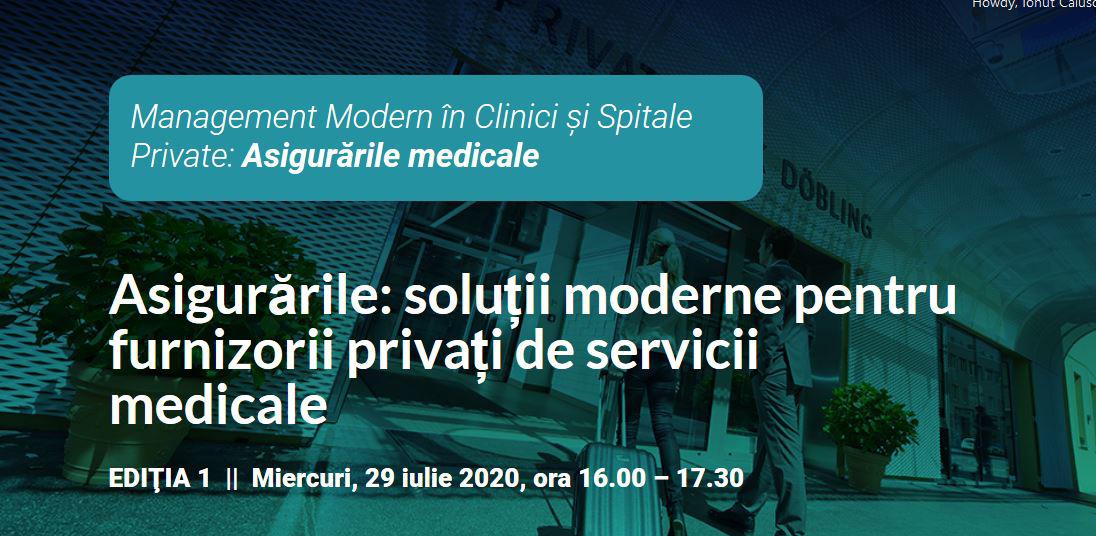 Webinar gratuit pe tema asigurărilor de sănătate pentru furnizorii privați de servicii medicale