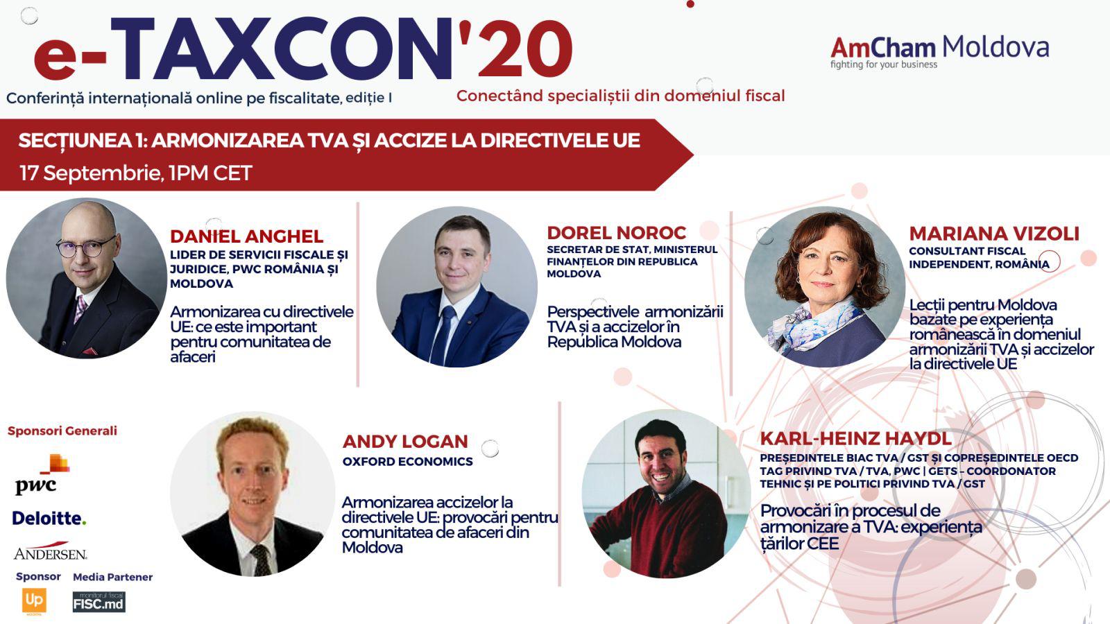 e-TAXCON'20 – prima conferință internațională online cu tematică fiscală din Republica Moldova