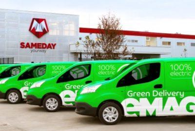 eMag demarează livrarea cu maşini 100% electrice prin serviciul Green Delivery