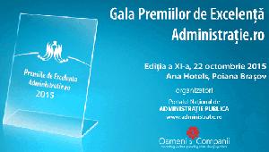 Ediţia a XI-a a Galei Premiilor de Excelență Administrație.ro va avea loc pe 22 octombrie, la Poiana Brașov