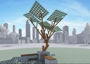 """Franța a inaugurat primul """"eArbore"""" din Europa, cu """"frunze"""" fotovoltaice"""