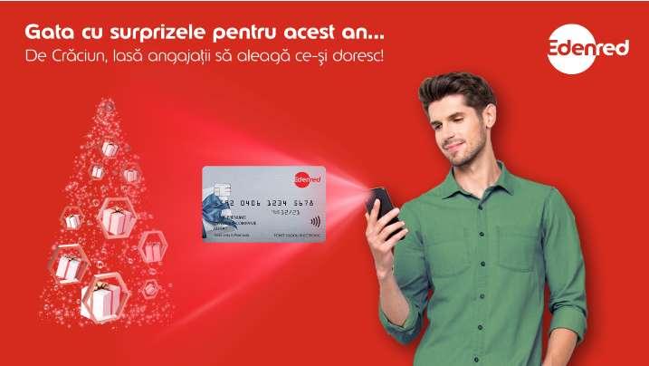 Edenred România: Companiile vor oferi anul acesta cu 10% mai multe carduri cadou de Crăciun