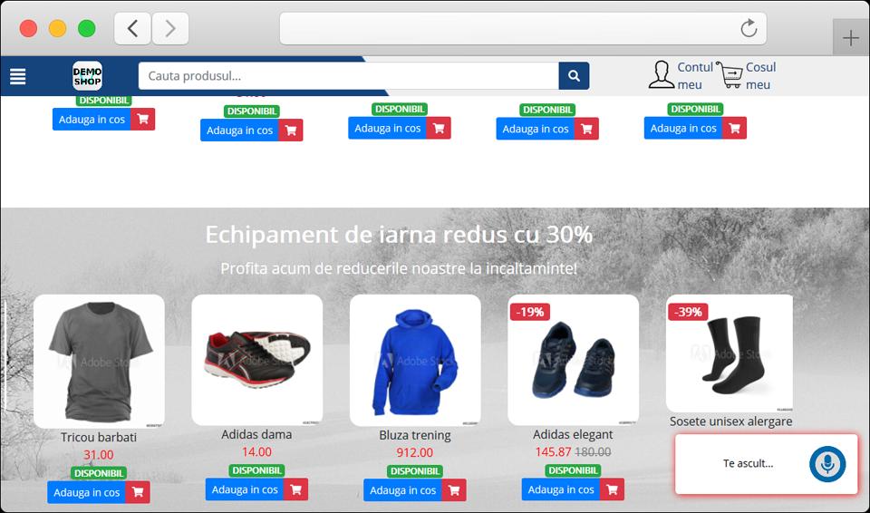 FamShop: comerț online prin interacțiune vocală cu vizitatorii