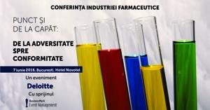 """Conferința """"Industria farmaceutică. De la adversitate spre conformitate"""" are loc pe 7 iunie la Bucureşti"""