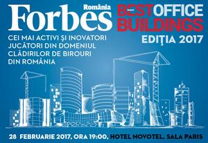 Gala Forbes Best Office Buildings 2017 are loc pe 28 februarie