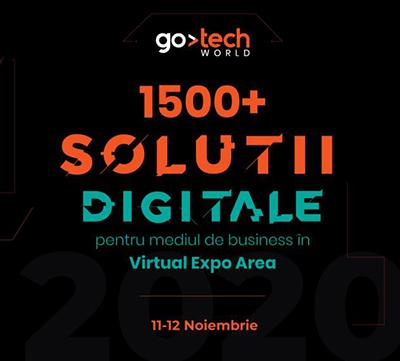 GoTech 2020 aduce la start peste 1.500 de soluţii digitale de afaceri, în perioada 11-12 noiembrie