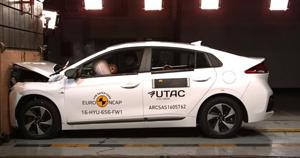 Noul Hyundai Ioniq a obținut 5 stele la testele Euro NCAP