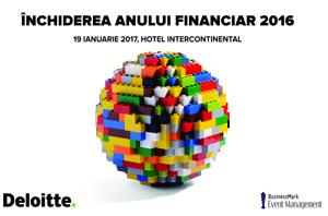 """Conferința """"Închiderea anului financiar 2016"""" are loc pe 19 ianuarie, la București"""