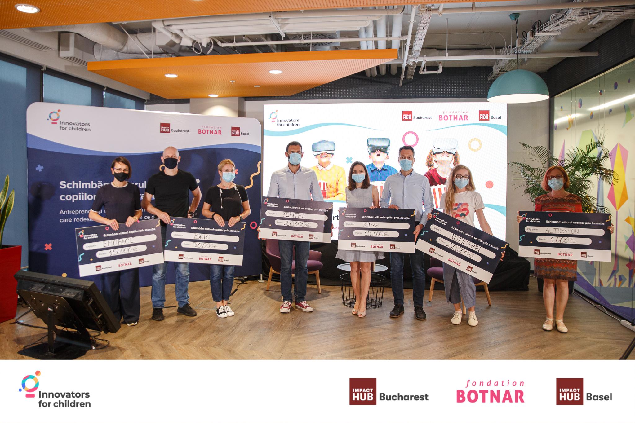 Cinci startup-uri au primit finanțare de 100.000 de euro la Finala Innovators for Children 2020