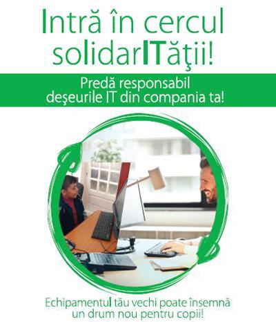 """Companiile din IT, îndemnate să doneze computerele uzate către şcoli, în campania """"Intră în cercul solidarITăţii!"""""""