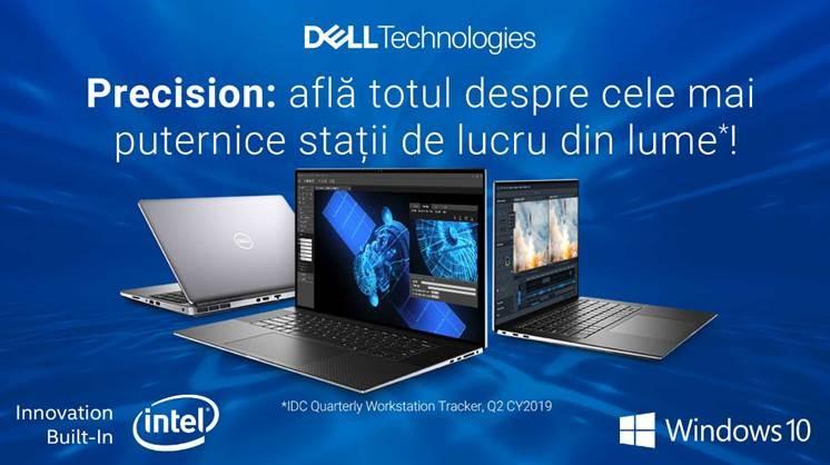 Beneficiile aduse de noua serie Dell Precision, cele mai puternice stații de lucru din lume