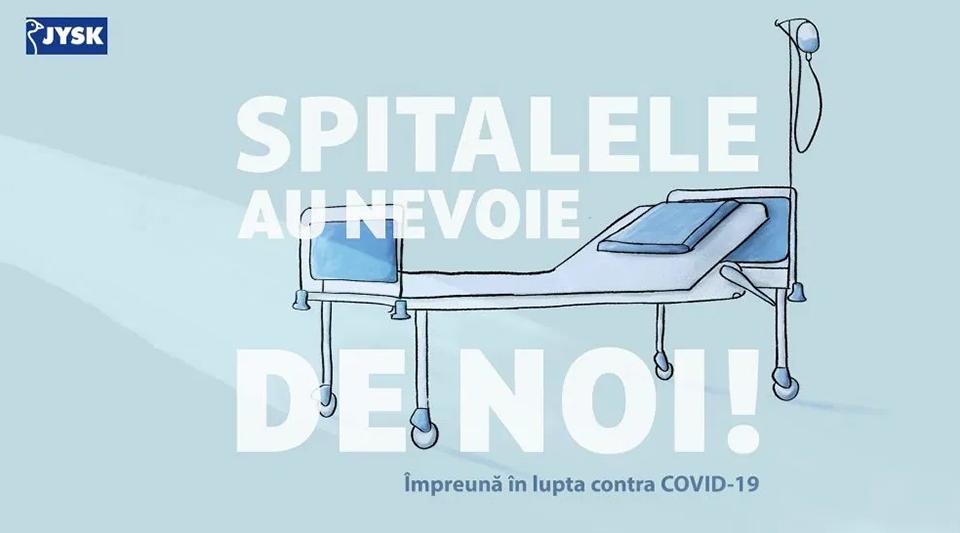 JYSK Romania donează perne, plăpumi și lenjerii de pat spitalelor care tratează pacienți diagnosticați cu COVID-19