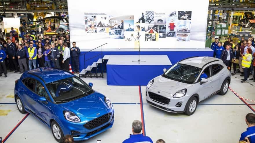 Ford a lansat la Craiova producţia noului Puma, primul vehicul hibrid construit în România