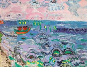 """Pictura """"Mare albastră"""" de Țuculescu a fost adjudecată la licitație cu 65.000 de euro"""
