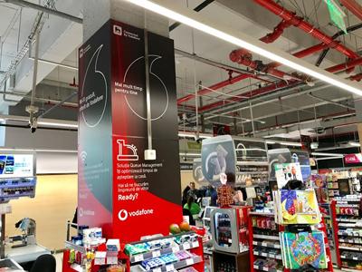 Mega Image a lansat în colaborare cu Vodafone primul magazin inteligent din România