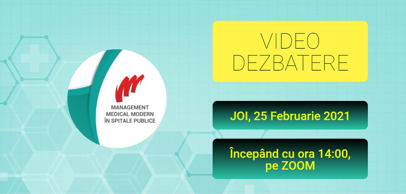 """Comunitatea de Spitale Publice: Pe 25 februarie are loc webinarul """"Management Medical Modern"""""""