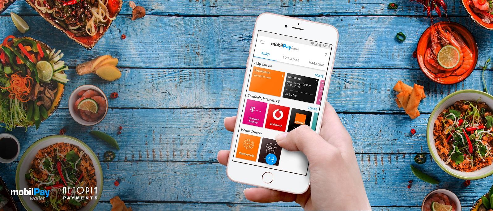 S-a lansat mobilPay Delivery, platforma pentru comenzi de la restaurante, magazine și producători locali