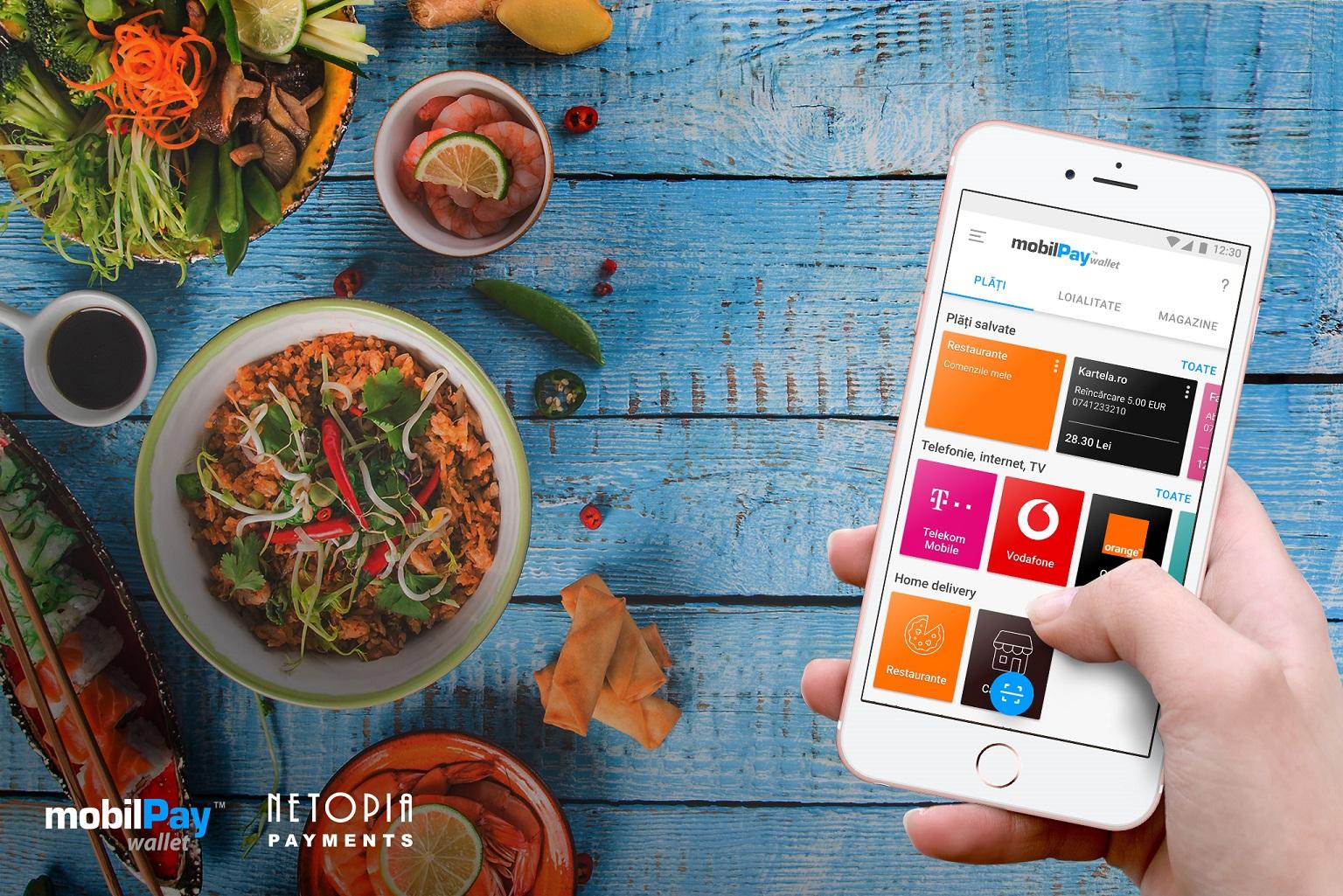 NETOPIA Payments lansează o platformă de comenzi integrată în aplicația mobilPay Wallet, pentru restaurante, magazine specializate și producători locali din toată țara, care fac livrări la domiciliu