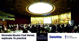 """Seminarul """"Normele Noului Cod Vamal, explicate. În practică"""" va avea loc pe 26 aprilie, la Hotel Intercontinental din București"""