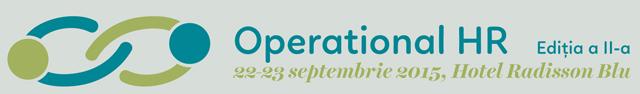"""Conferința """"Operational HR"""" va avea loc pe 22 și 23 septembrie, la București"""