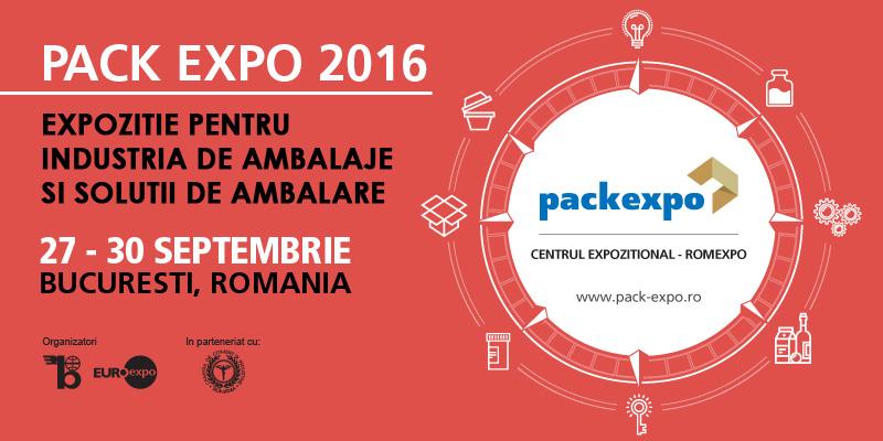 Evenimentul anului pentru industria de packaging are loc la Bucuresti PACK EXPO – 27 – 30 septembrie 2016, ROMEXPO