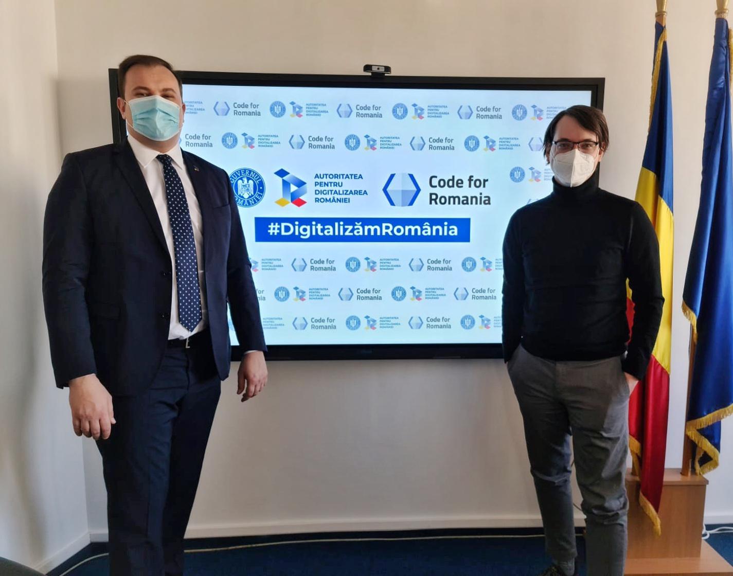 Autoritatea pentru Digitalizarea României și Code4Romania au semnat Acordul de parteneriat pentru digitalizarea sectorului public