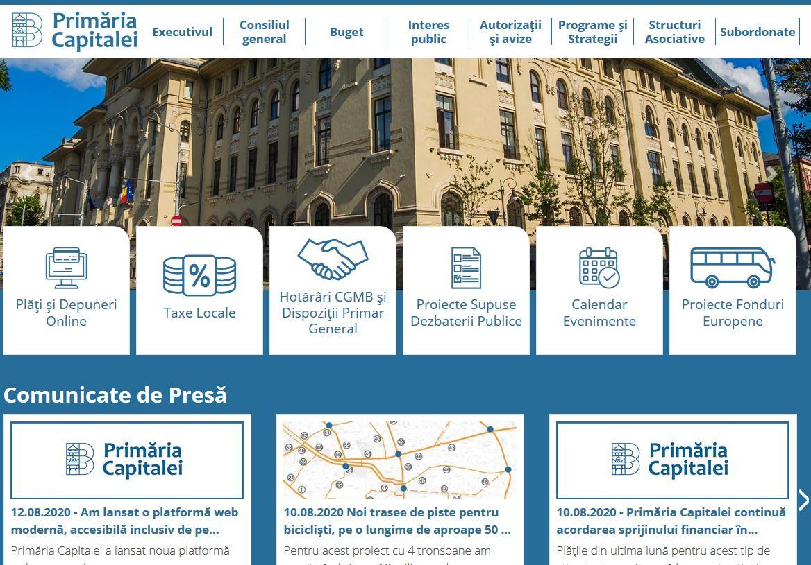 Primăria Capitalei a lansat o platformă care permite plăţi online sau depunerea cererilor în format electronic