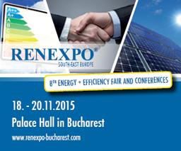 Energie + Eficiență la cea de-a VIII-a ediție a Târgului și Conferințelor RENEXPO SOUTH-EAST EUROPE