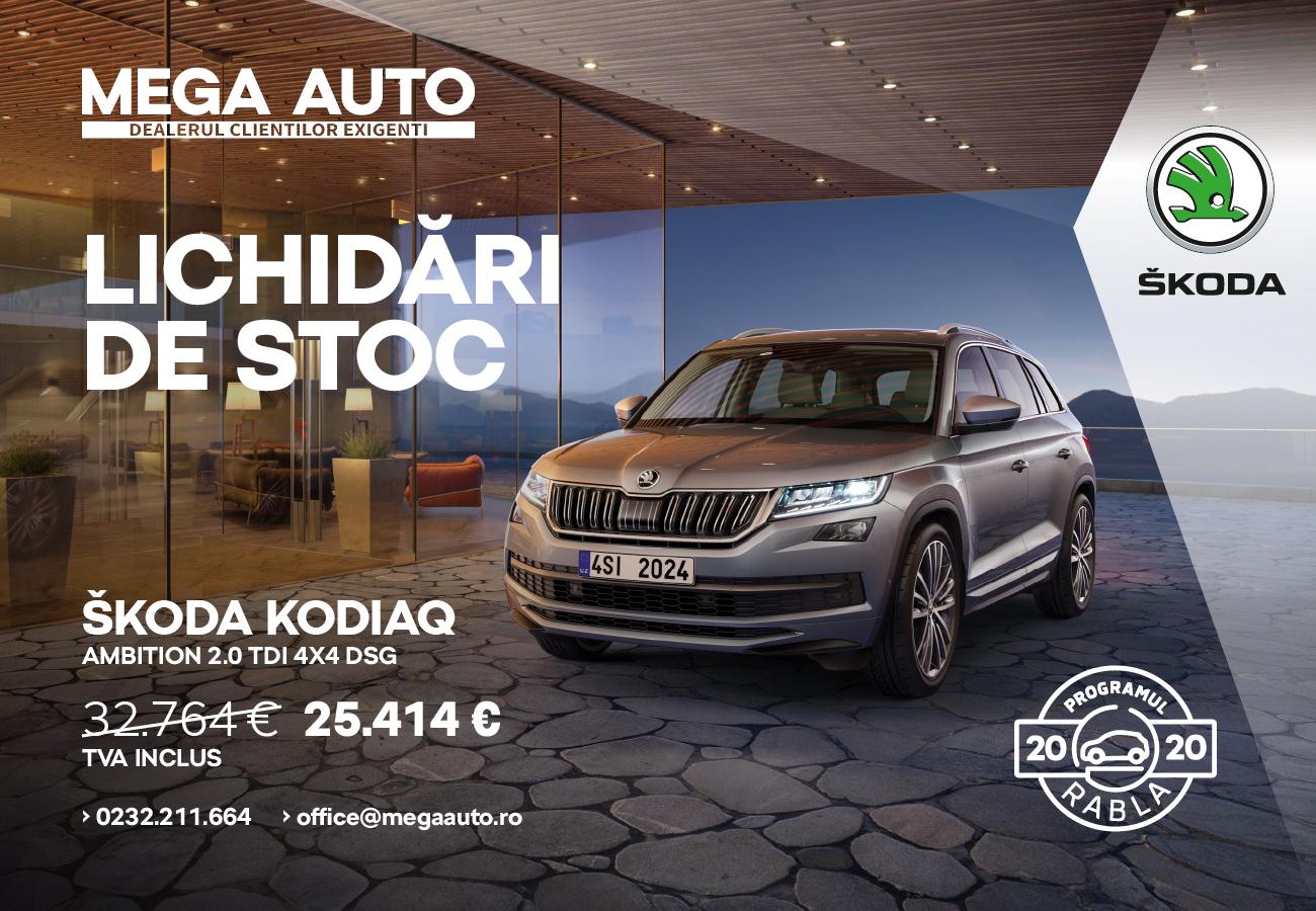 Lichidare de stoc la Mega Auto – ŠKODA  Iași