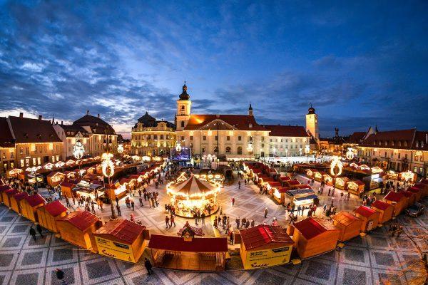 Târgul de Crăciun de la Sibiu a fost suspendat din cauza pandemiei de COVID-19
