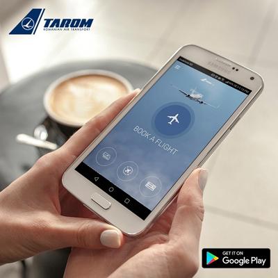 Pasagerii TAROM pot achiziţiona, de acum, bilete pe platforma Apple şi Android