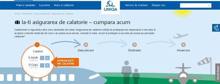 Uniqa Asigurări a lansat un serviciu special pentru clienţii care achiziţionează asigurarea de călătorie online