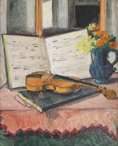 """""""Vioară şi note muzicale"""" de Theodor Pallady, în licitaţie la Artmark"""