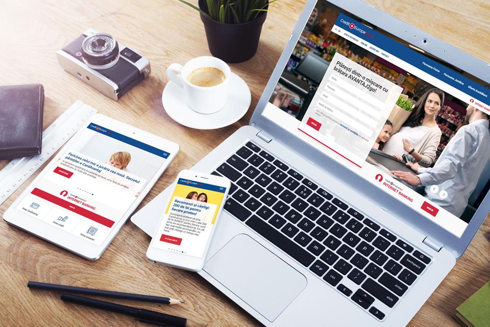 Credit Europe Bank a relansat website-ul instituției și deschide un nou capitol spre digitalizare