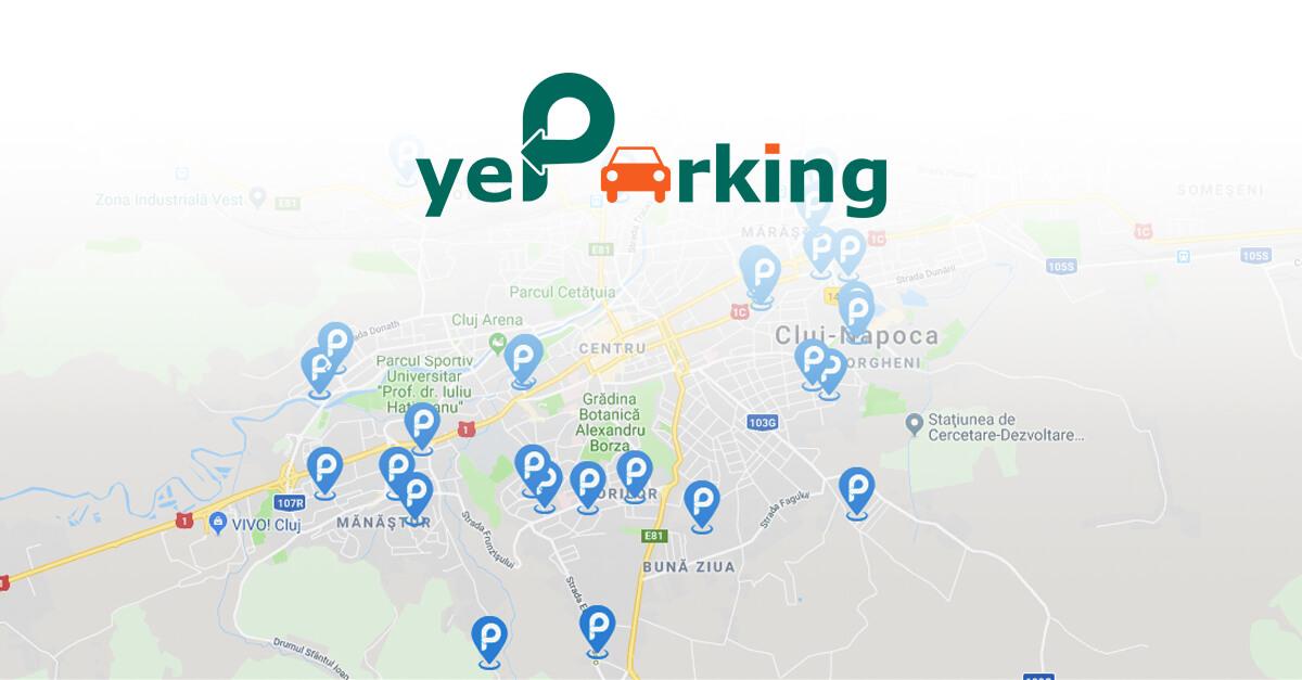 Aplicația yeParking, prin care șoferii își distribuie locurile de parcare atunci când nu le folosesc, se extinde în Oradea și Iași